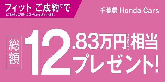 フィットご成約で純正ナビ+ドラレコプレゼント!