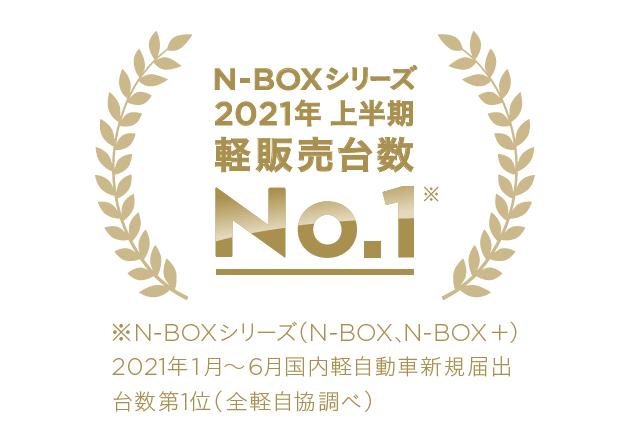 N‐BOX 2021年上半期も 軽No1!